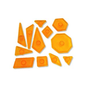 JEM Set of 12 GEOMETRIC SHAPES Design Cutters Icing Sugarcra