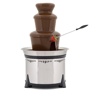 Sephra Fountains 18 Classic Fondue Chocolate Fountain (Brushed Stainless Steel)