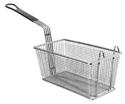 FMP Fry Basket With Plastic-Coated Handle, 12-7/8 x 6.5 x 5-3/8: Twin, Front Hook
