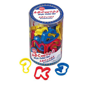 Wilton 50-Piece ABC / Letters & 123 / Numbers Cookie Cutter Set
