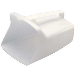 Rubbermaid FG288500WHT White Plastic Utility Scoop 64-Ounce