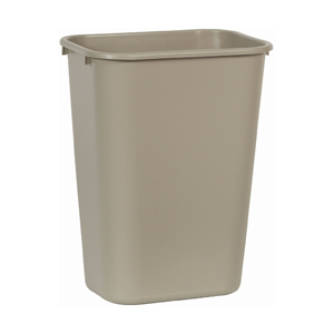 Rubbermaid FG295700BEIG Wastebasket, Large, Beige