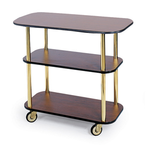 Geneva 3610001 Rectangular Service Cart With Flat Top - Gray Sand Laminate Finish