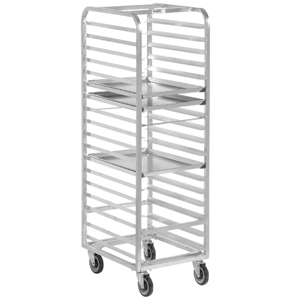 Channel Bun Pan Rack, Aluminum, Front Loading, 70-1/4 High