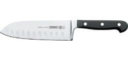 Mundial 5100 Series 7-Inch Santoku Knife with Hollow Edge, Black