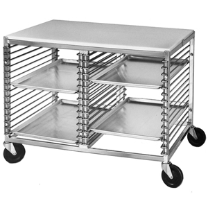 Channel Mobile Work Table Wire Pan Slide Aluminum