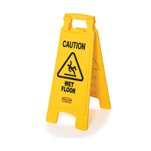 Rubbermaid FG611277YEL Floor Sign with Caution Wet Floor Imprint, 2-Sided