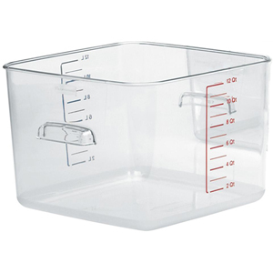 Rubbermaid FG631200CLR Square Storage Container Clear 12 Qt.