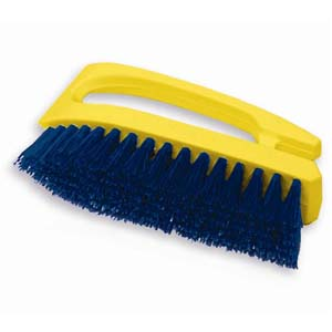 Rubbermaid Fg648200coblt 6 Scrub Brush Yellow Handle