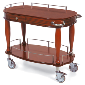 Geneva 70011 Serving Cart - Oval Shaped Top