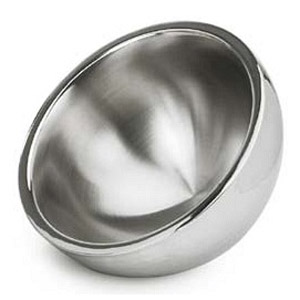 Eastern Tabletop 7208 8 50 Oz. Insulated Hammered Round Bowl Stainless Steel