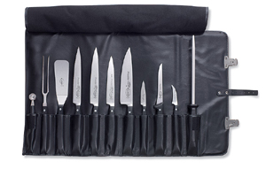 f dick 11 piece knife chef 39 s set with roll bag knife sets bakedeco com. Black Bedroom Furniture Sets. Home Design Ideas
