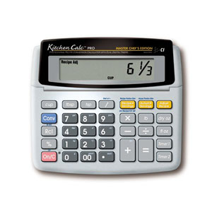 Calculated Industries Kitchen Calculator Desktop with Digital Timer