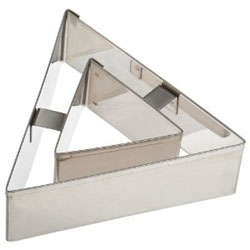 Ateco Triangle Vol Au Vent Cutter 3.25, Stainless Steel