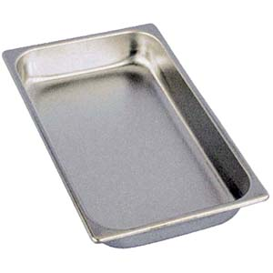 Adcraft Deli Pan 165 Series Stainless, Full Size. Fits 15-3/4 x 9-1/4 Openings