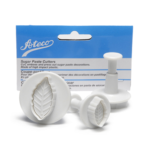 Ateco Plunger Cutters, Set of 3: Leaf - 1955