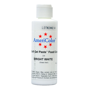 Americolor Soft Gel Paste Bright White Food Coloring Food Colors ...