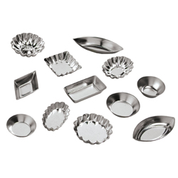 Ateco Tartlet Mold Tinplate 72-Piece Set