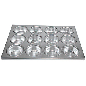 Winco Muffin Pan, 12 Cup, Aluminum