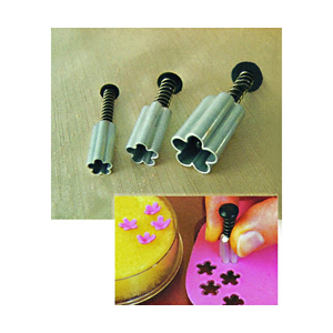 Fat Daddio's 3-Piece Aluminum Plunger Cutter Set, Flower
