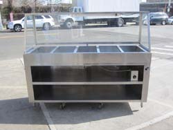 Custom heated salad bar with sneeze guard used used equipment we have sold bakedeco com - Sneeze guard for steam table ...