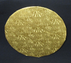 Cake Board Gold Round, 1/4 Thick.