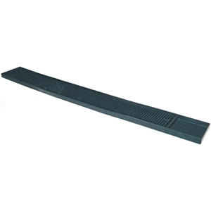 Winco BM-327K Rubber Bar Mat, 27'' x 3-1/4'', Black