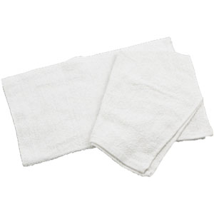 Cotton Bar Towel 15 x 18, White - Case of 12