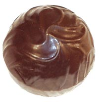 Polycarbonate Swirl Bonbon 2 pc. Magnetic Chocolate Mold. Each Bonbon 25mm Diam; 32 Cavities