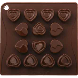 Pavoni ChocoIate Heart-Shapes Silicone Mold