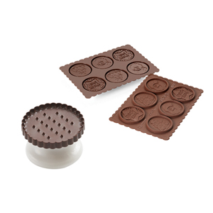 Silikomart CKC02 Cookie Cutter & Chocolate Mold Set, Xmas