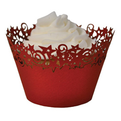 Paper Orchid Red Stars Cupcake Wrapper, 50Pack CWR-07779-0124