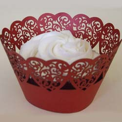 PME Cupcake Wrapper Hearts, Red, 12 Cups per pack