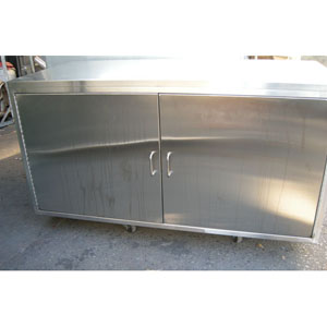 2 Door Stainless Steel Cabinet 60 x 28 x 30 - Used Condition Used ...