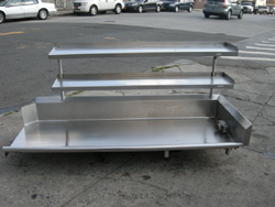 Right Clean Dishwasher Table Stainless Steel With Overhead Shelves - Stainless steel dishwasher table