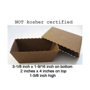 Novacart Dark Brown Easybake Paper Baking Mini Loaf Pan - 100 Pieces CEB025123