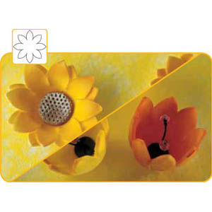 Martellato Kit for Shaping Edible Flowers, with Cutting Sheet of 8-Petal Flower