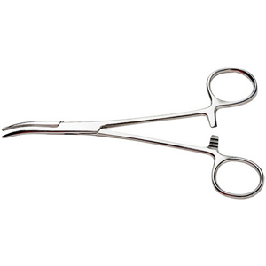 Excel 55531 7-1/2 Curved-Nose Stainless Steel Hemostat