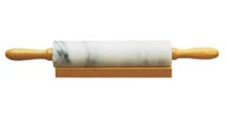 Fox Run Marble Rolling Pin with Wooden Handles