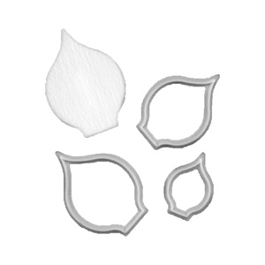 FMM Sugarcraft Flower Cutter & Veiner Set - Arum / Cala Lily