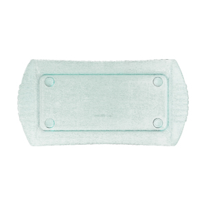G. E. T. Polycarbonate Platters, Rectangle, 18 x 9, Color: Jade - Pack of 3