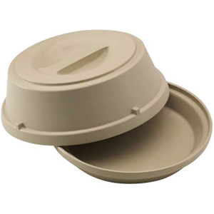 Cambro HK39 Heat Keeper for 9'' Plates Antique White - Pack of 6
