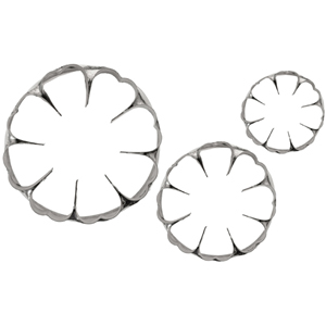 L. Tellier Flower Cutters, Made of Heavy Duty Stainless Steel, Set of 3 Cutters