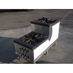 Double Burner Step Up Stock Pot Range Dbl Candy Stove