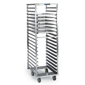 Lakeside 172 S/S Roll-In Cooler Pan & Tray Rack - 18 Trays 18 x 26