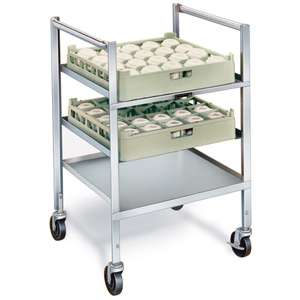 Lakeside 197 Stainless Steel Glass-Cup Rack Cart