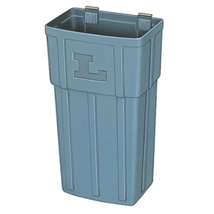 Lakeside 202-6 Large Gray Wastebox - Pack of 6