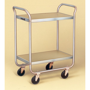 Lakeside 221 Stainless Steel Utility Tubular Frame 2 Shelf 18 X 27