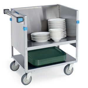 Lakeside 407 Store & Carry Stainless Steel Dish Cart 21 X 35