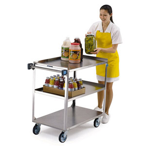 Lakeside 444 Stainless Steel Utility Cart - Med. Duty 21 x 35